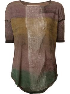 футболка с эффектом градиент Raquel Allegra