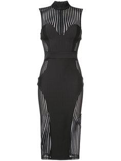 приталенное платье с прозрачной панелью Zhivago