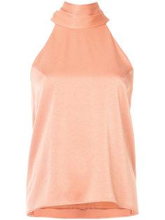 блузка с вырезом-петлей халтер Galvan