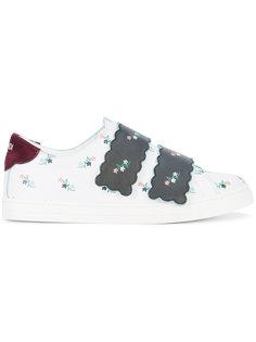 кроссовки с цветочным принтом Fendi