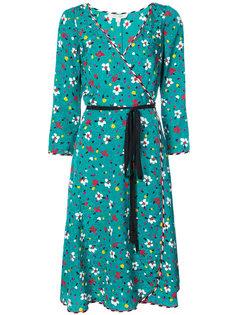 платье с запахом и цветочным принтом  Marc Jacobs