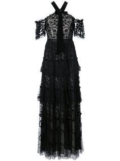 платье макси с вышивкой Needle & Thread