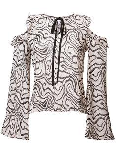 прозрачная блузка с вырезными деталями Derek Lam 10 Crosby