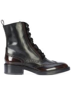 сапоги с перфорацией и шнуровкой Sartore