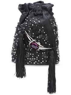 сумка через плечо с вышивкой Khirma x Swarovski Khirma Eliazov