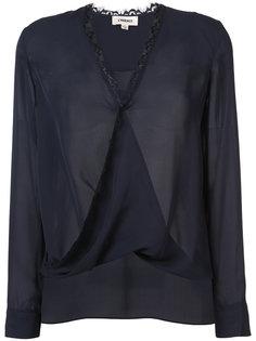 блузка с V-образным вырезом Lagence
