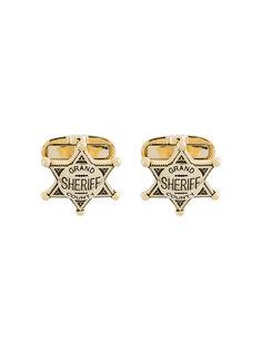 запонки в виде значка шерифа  Paul Smith