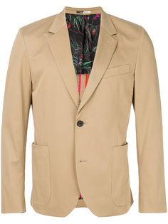 эластичный пиджак с накладными карманами Ps By Paul Smith
