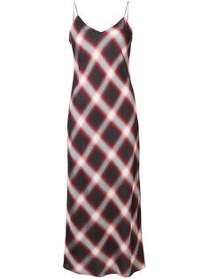 клетчатое платье на бретелях Vince
