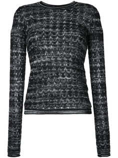 patterned longsleeved knitted blouse Missoni