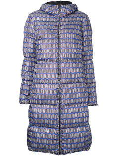 стаганое пальто с волнистым узором Missoni