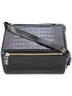 сумка с тиснением под крокодиловую кожу Givenchy Vintage