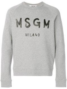 толстовка с нарисованным логотипом MSGM