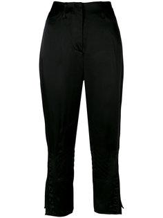 укороченные брюки с вышивкой  Fendi