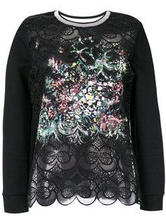 блузка с открытой вышивкой Fendi