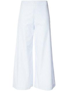 укороченные брюки в полоску  Adam Lippes