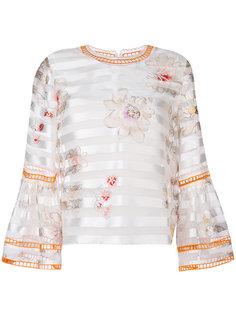 блузка с цветочным принтом  Fendi