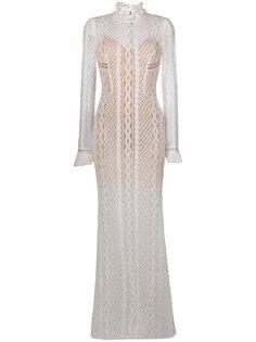 тюлевое платье с вышивкой  Ermanno Scervino