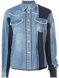 джинсовая куртка с панельным дизайном Sacai