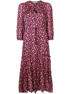 платье с цветочным узором и поясом Ulla Johnson