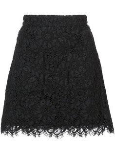 кружевная юбка мини Veronica Beard