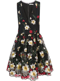 платье с цветочной вышивкой Alice+Olivia