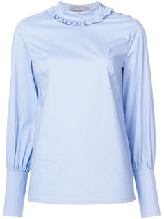 блузка с присборенными манжетами Lela Rose