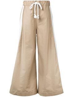 широкие брюки с завязках Bassike