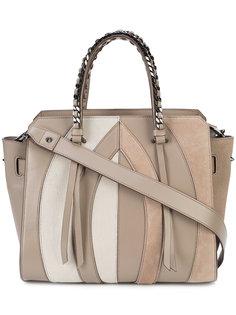 сумка-сэтчел с панельным дизайном Elena Ghisellini