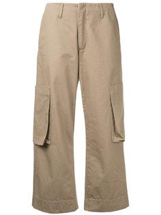 укороченные брюки-карго Bassike