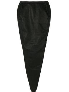 длинная приталенная юбка Rick Owens