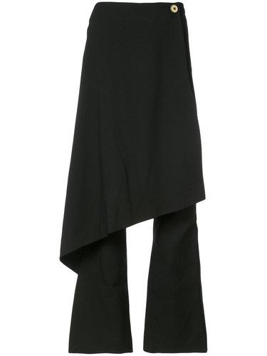 брюки клеш с резным передником Solace