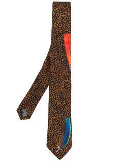 леопардовый галстук с перьями Paul Smith