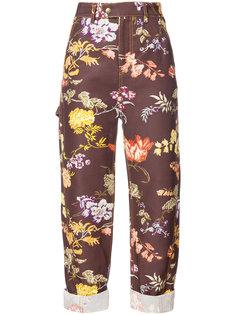 брюки с цветочным принтом Rosie Assoulin