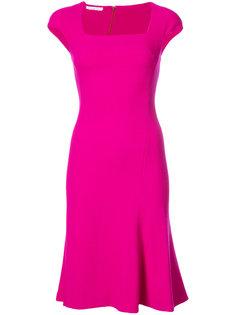 платье с оборчатым подолом Oscar de la Renta