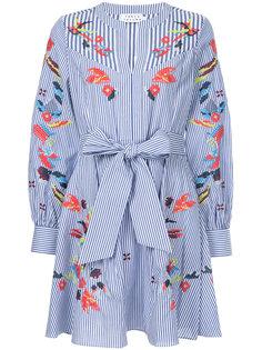 платье в полоску с вышивкой Caro Tanya Taylor