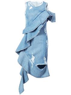 платье с оторочкой из воланов Jonathan Simkhai