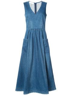 расклешенное платье миди Co