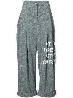 брюки с надписью Natasha Zinko