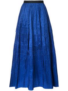 длинная плиссированная юбка Oscar de la Renta