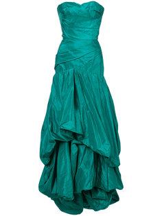 вечернее платье с драпировкой Oscar de la Renta