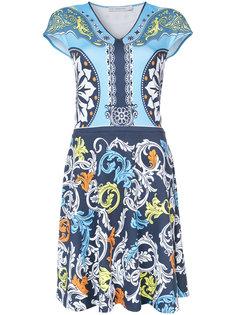 платье с V-образным вырезом и принтом Mary Katrantzou