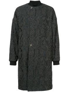 длинная куртка бомбер с узором пейсли Uma Wang