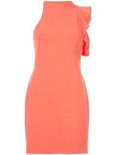 асимметричное платье с оборками Black Halo