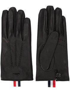 перчатки с отделкой Thom Browne