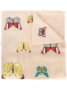 шарф с вышивкой Janavi