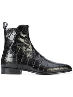 ботинки с тиснением Saint Laurent