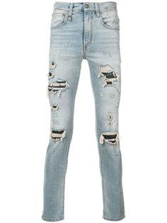 узкие джинсы с протертостями R13