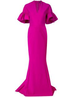 вечернее платье с пышными рукавами Greta Constantine