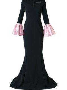 вечернее платье с заниженной линией плеч Greta Constantine